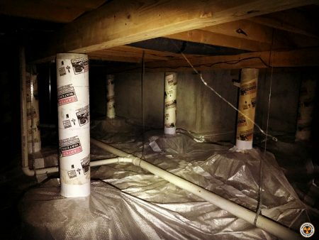 radon reduction system in Missouri basement